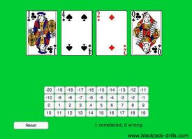 card counting practice drills